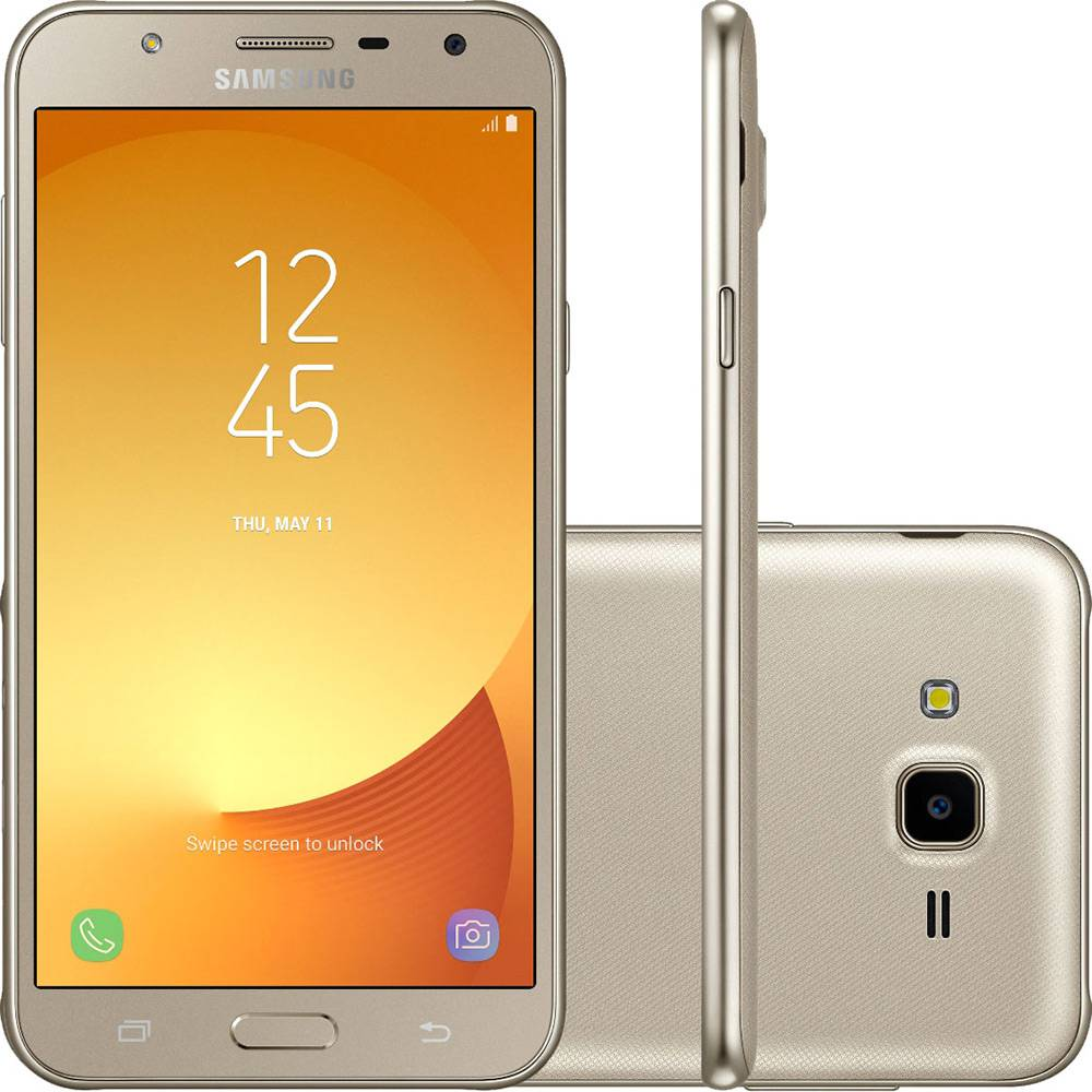 "Samsung Galaxy J7 Neo (16GB) J701M/DS - 5.5"", Android 7.0, Dual SIM Unlocked Smartphone, International Model - Gold by Samsung"