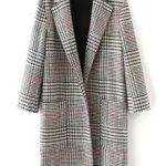 Women's Lapel Houndstooth Coat