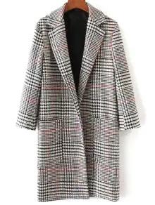 Women's Lapel Houndstooth Coat
