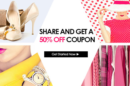SHARE AND SAVE GET 50% OFF