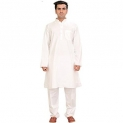 Exotic India Pure White Kurta Pajama – Pure White