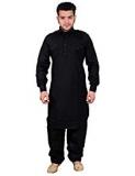 Mens Cotton Pathani Kurta Pyjama Shalwar Kameez