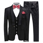 MOGU Mens New Casual Slim Fit Skinny Dress Suits 3 Piece