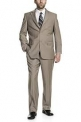 P&L Men's Two-Piece Classic Fit Office 2 Button Suit Jacket & Pleated Pants Set