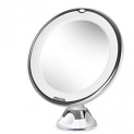Beautural 10X Magnifying Lighted Vanity Makeup Mirror with Natural White LED, 360 Degree Swivel Rotation and Locking Suction  by 1byone