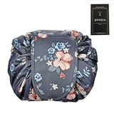 Cosmetic Makeup Organizer Lazy Drawstring Cosmetic Bag Large Capacity Waterproof Travel Makeup Pouch Magic Toiletry Bag for Womens Girls Christmas Gifts  by JHMKEA