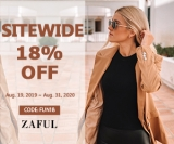 Extra 18% off sitewide at ZAFUL (Valid till 2020)