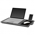 LapGear Home Office Lap Desk Extra Wide – Silver Carbon (Fits up to 17″ Laptop) by Lap Desk