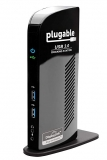 Plugable USB 3.0 Universal Laptop Docking Station for Windows (Dual Video HDMI & DVI/VGA, Gigabit Ethernet, Audio, 6 USB Ports) by Plugable