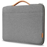 ProCase 14-15.6 Inch Laptop Sleeve Case Protective Bag, Ultrabook Notebook Carrying Case Handbag for 14″ 15″ Samsung Sony ASUS Acer Lenovo Dell HP Toshiba Chromebook Computers -Light Grey by ProCase
