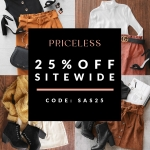 25% SITEWIDE EXCLUSIVE SALE! *Fall Edition