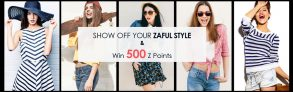 Upload Zaful wearing photoes with reviews to win 500 Z Points( 500 Z P
