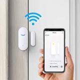 WiFi Door Alarm System, Wireless DIY Smart Home Security System, with Phone APP Alert, 8 Pieces-Kit (Alarm Siren, Door Window Sensor, Remote), Work with Alexa, for House, Apartment, by tolviviov