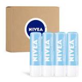 NIVEA Smoothness Lip Care – Broad Spectrum SPF 15 Moisturizing Lip Balm – Pack of 4
